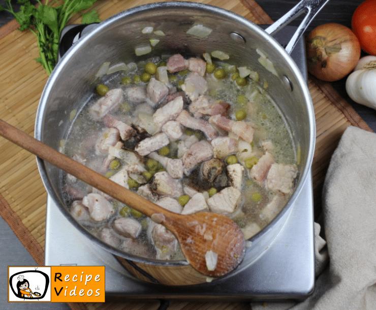 Pea stew recipe, prepping Pea stew step 4