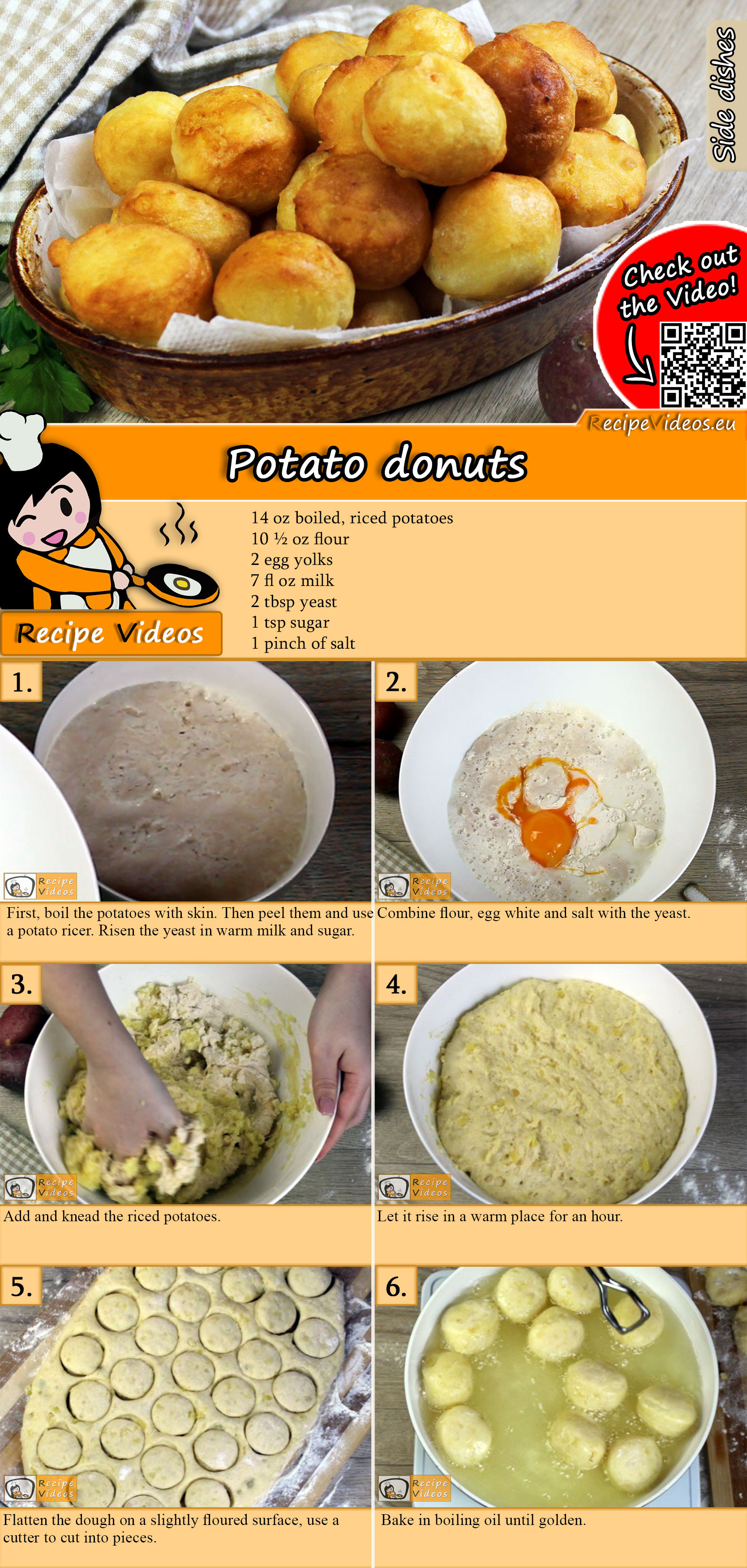 Potato donuts recipe with video
