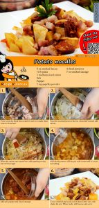 Potato noodles recipe with video