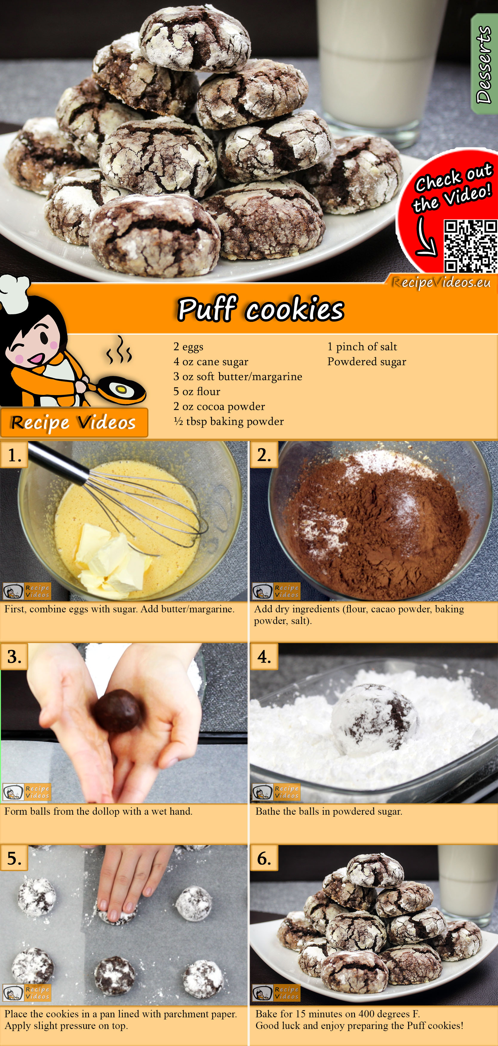 Puff cookies recipe with video