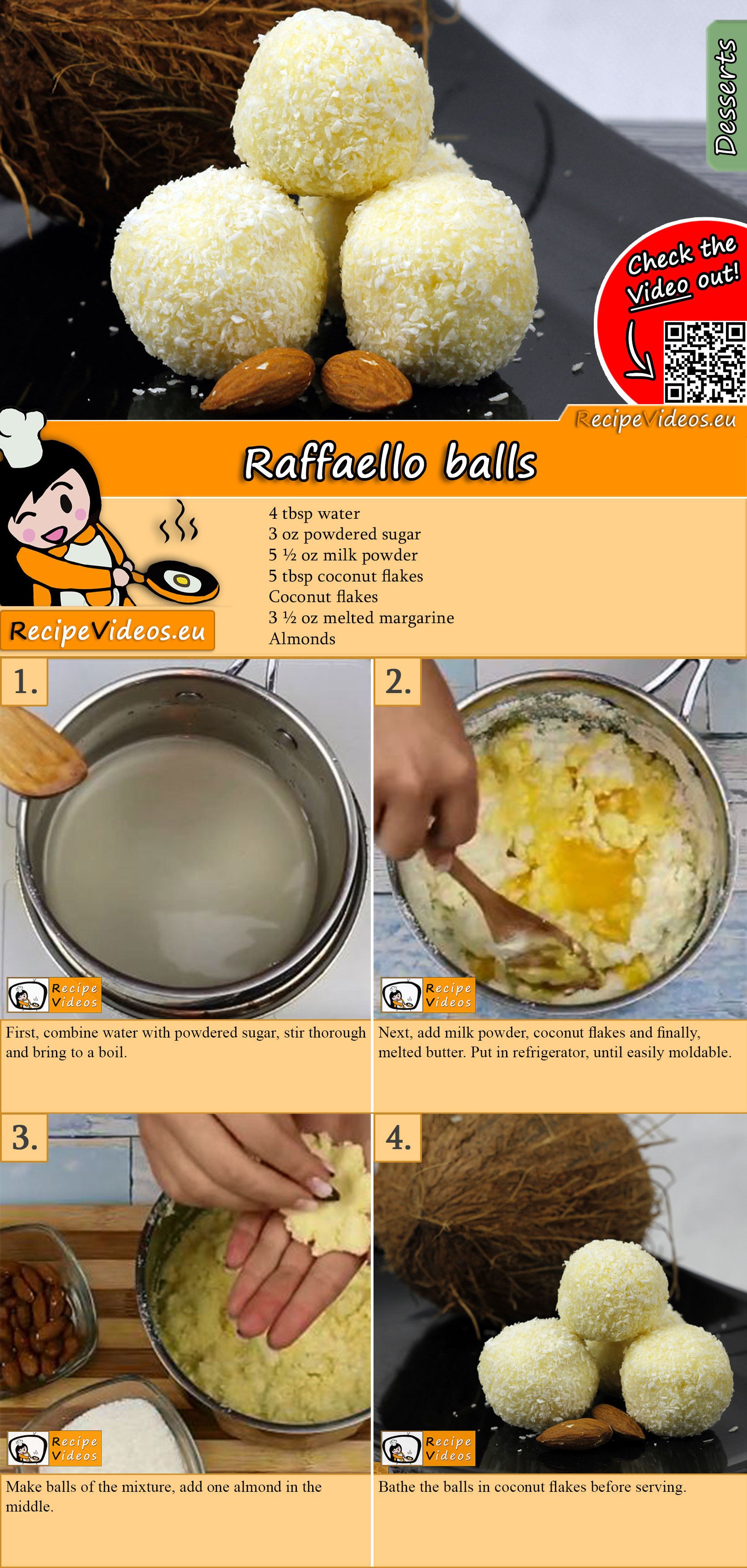 Raffaello balls recipe with video