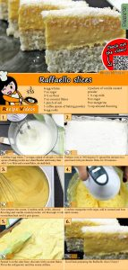 Raffaello slices recipe with video
