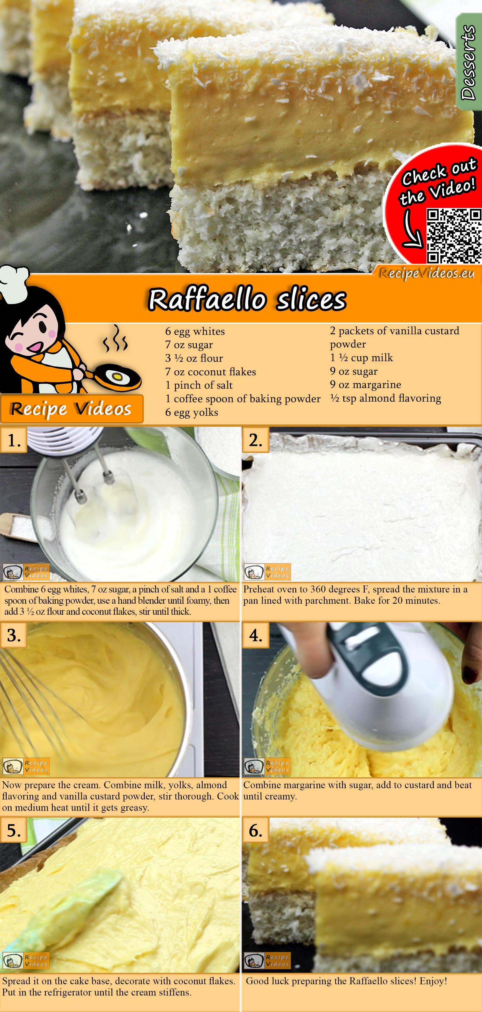 Raffaello slices recipe with video