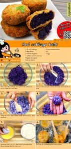 Red cabbage balls recipe with video