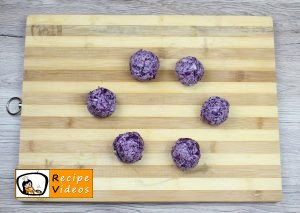 Red cabbage balls recipe, prepping Red cabbage balls step 4