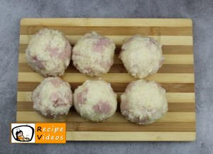 Rice balls with ham and cheese recipe, prepping Rice balls with ham and cheese step 4