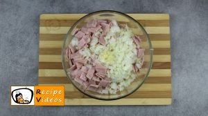 Rice balls with ham and cheese recipe, prepping Rice balls with ham and cheese step 2