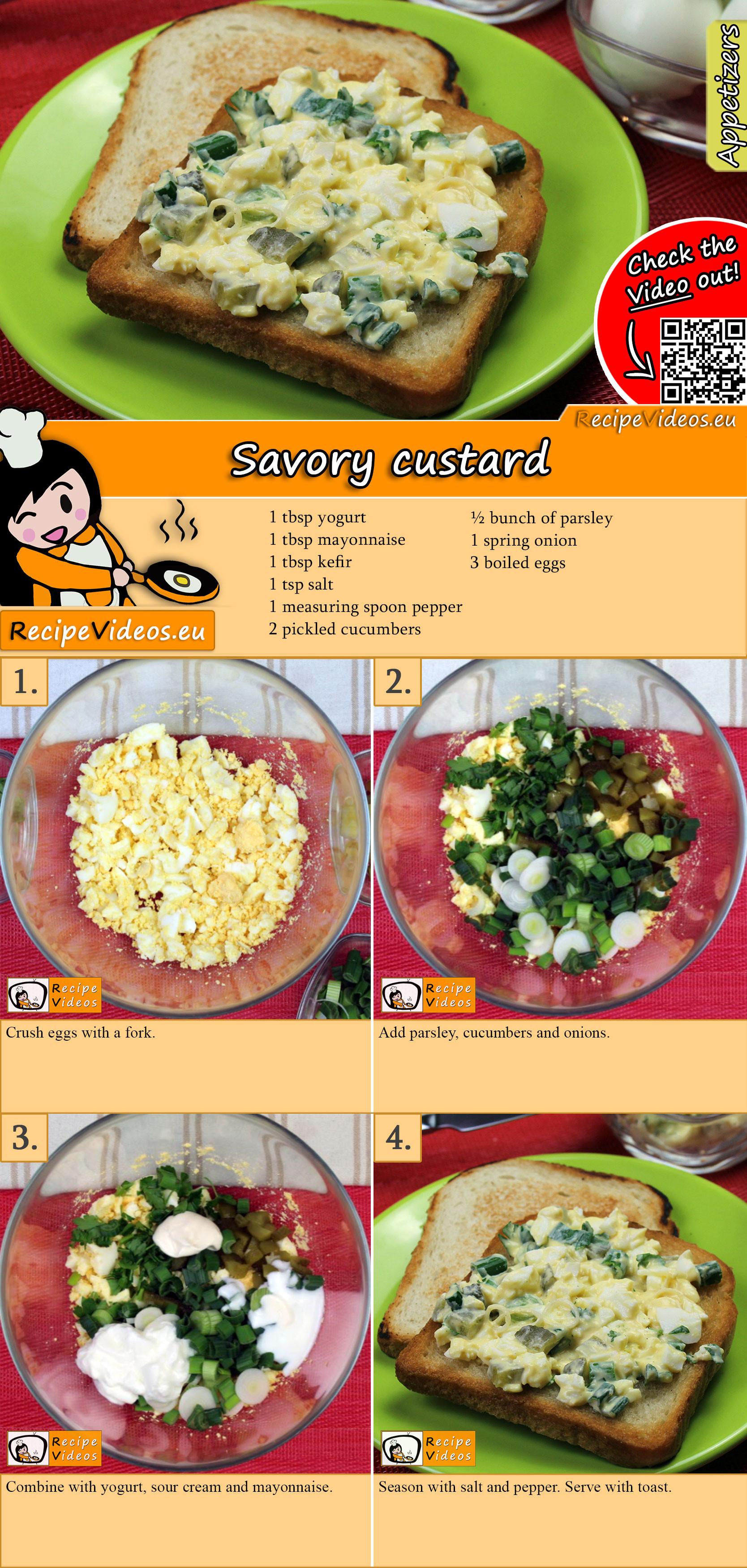 Savory custard recipe with video