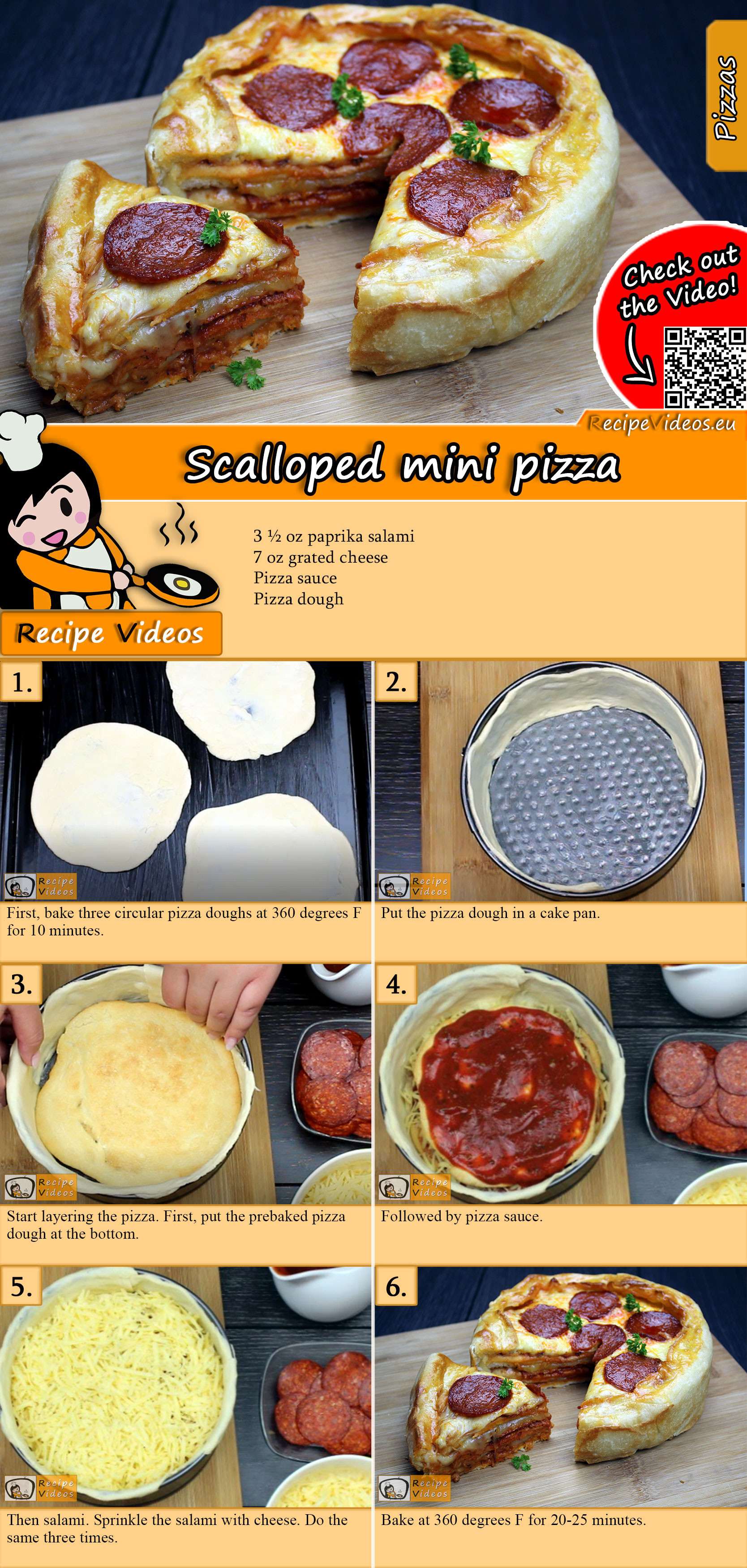 Scalloped mini pizza recipe with video