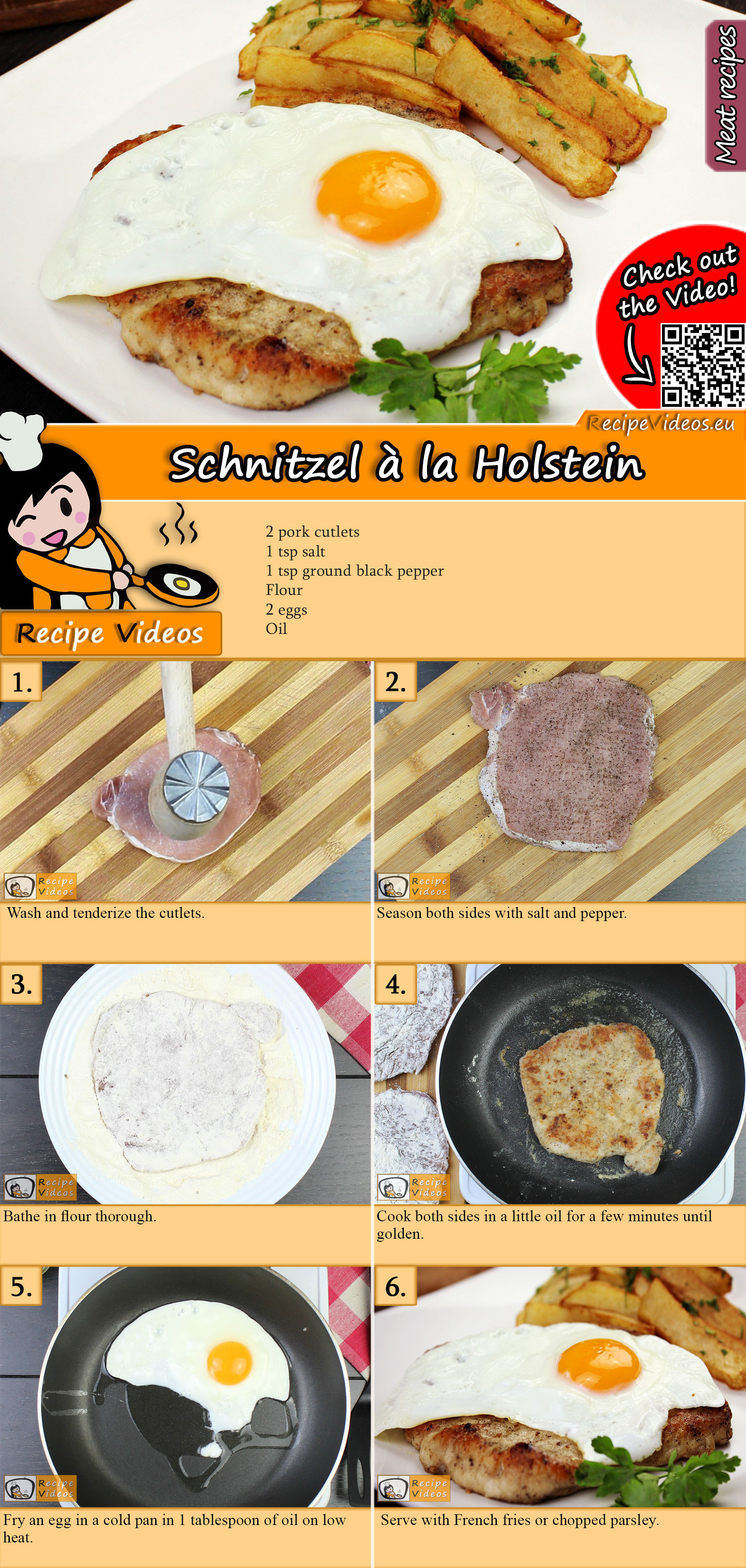 Schnitzel à la Holstein recipe with video