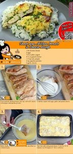 Sheet pan chicken breast in cheese dough recipe with video