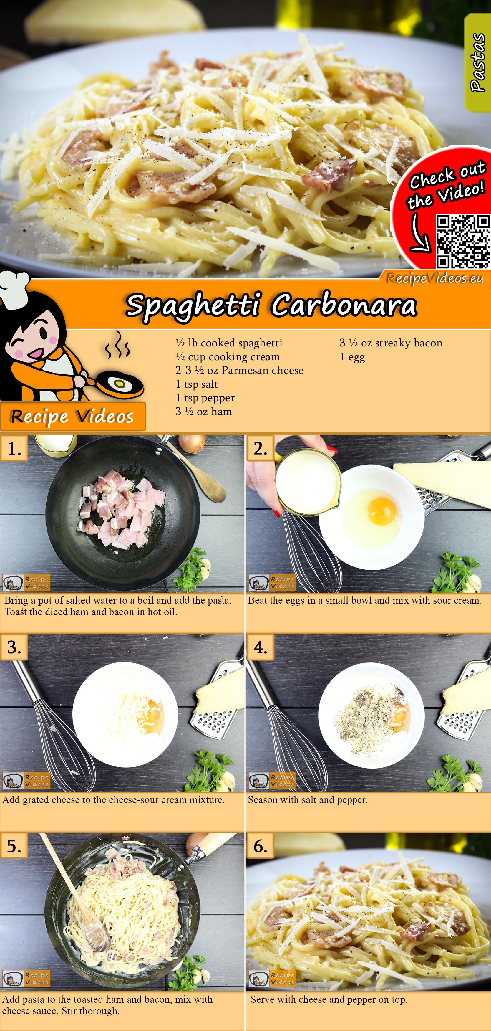 Spaghetti carbonara recipe with video