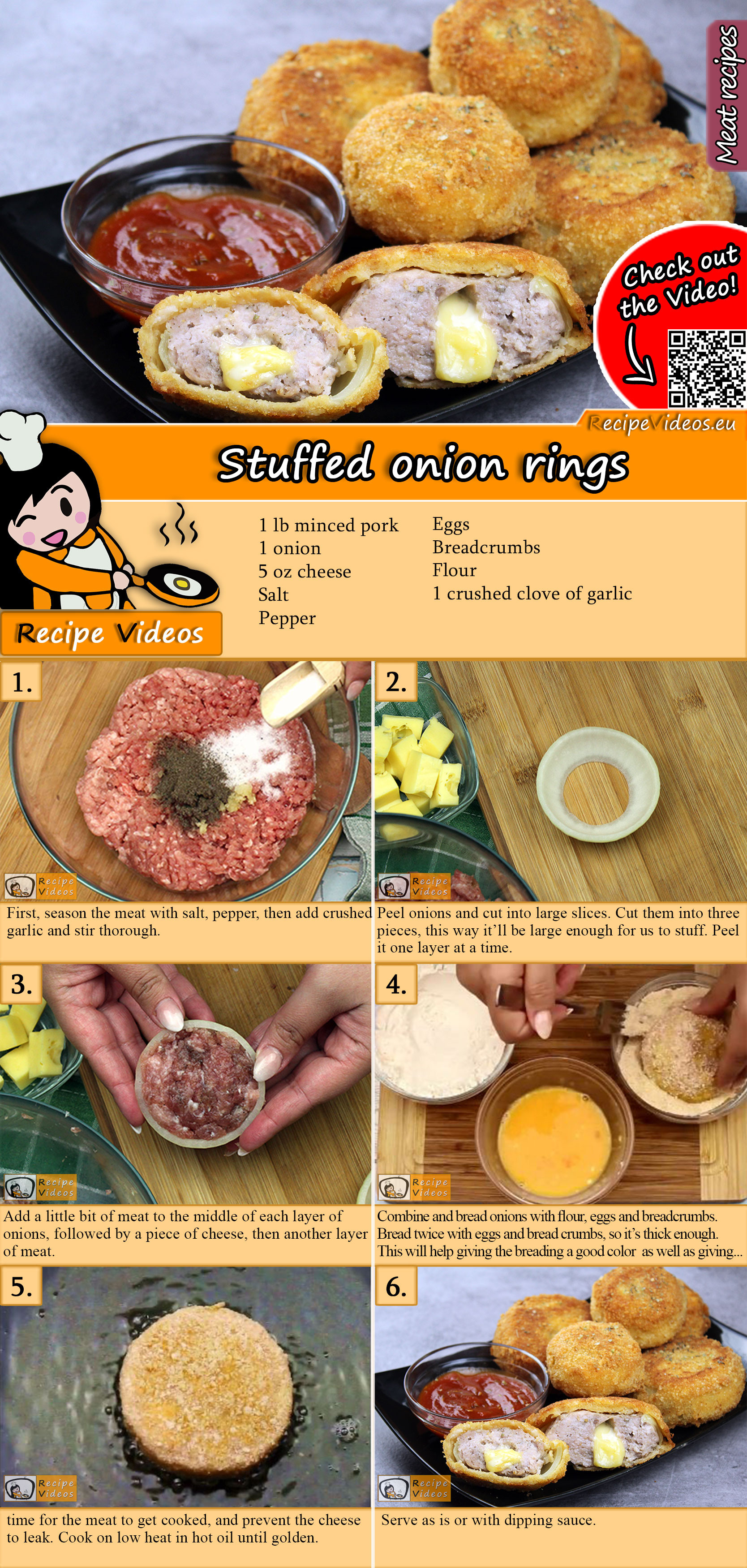Stuffed onion rings recipe with video