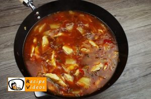 Sweet and sour chicken recipe, prepping Sweet and sour chicken recipe step 4