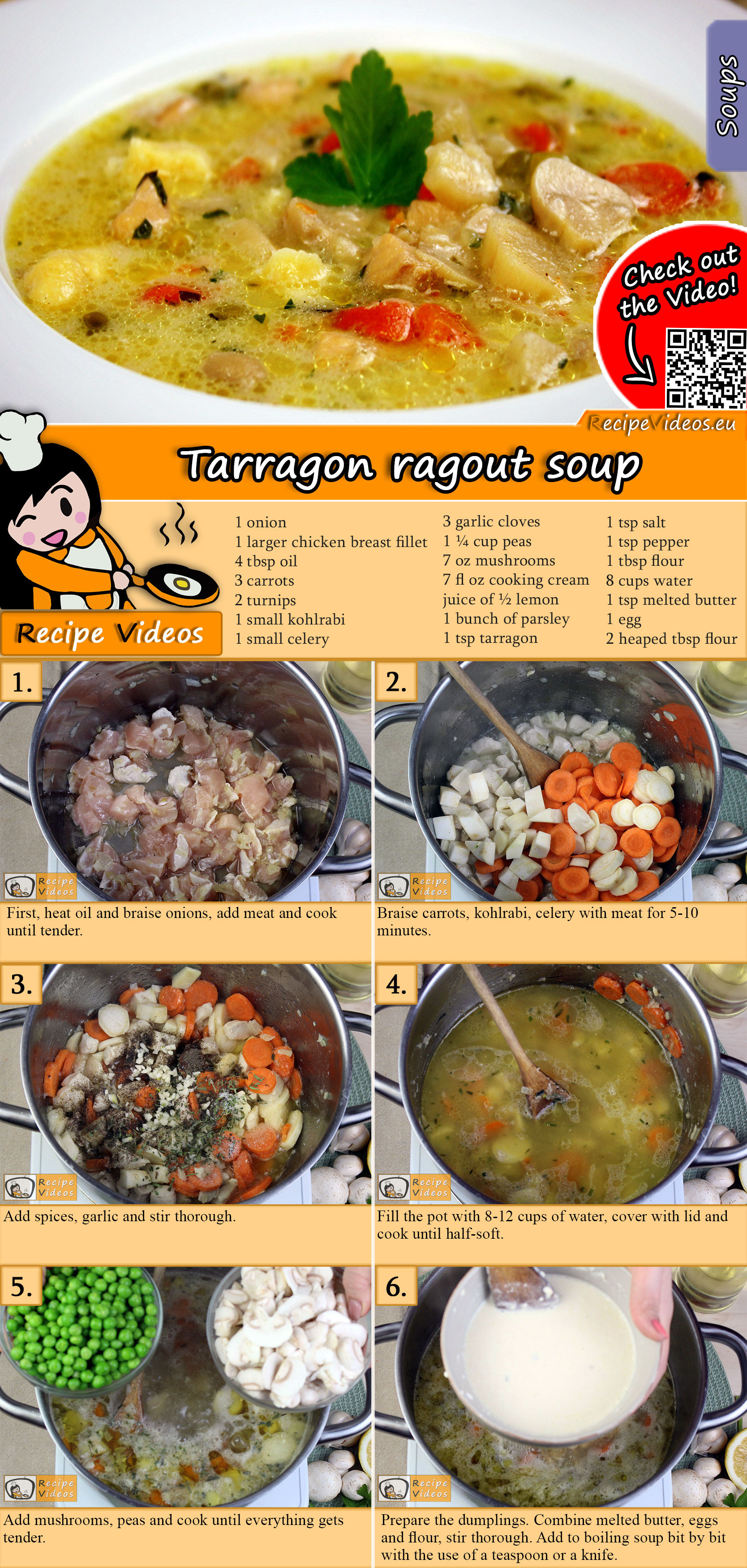 Tarragon ragout soup recipe with video