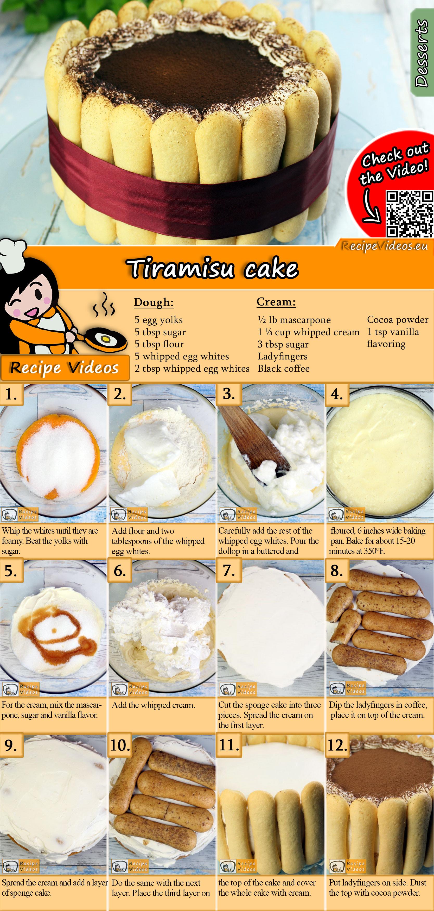 Tiramisu cake recipe with video