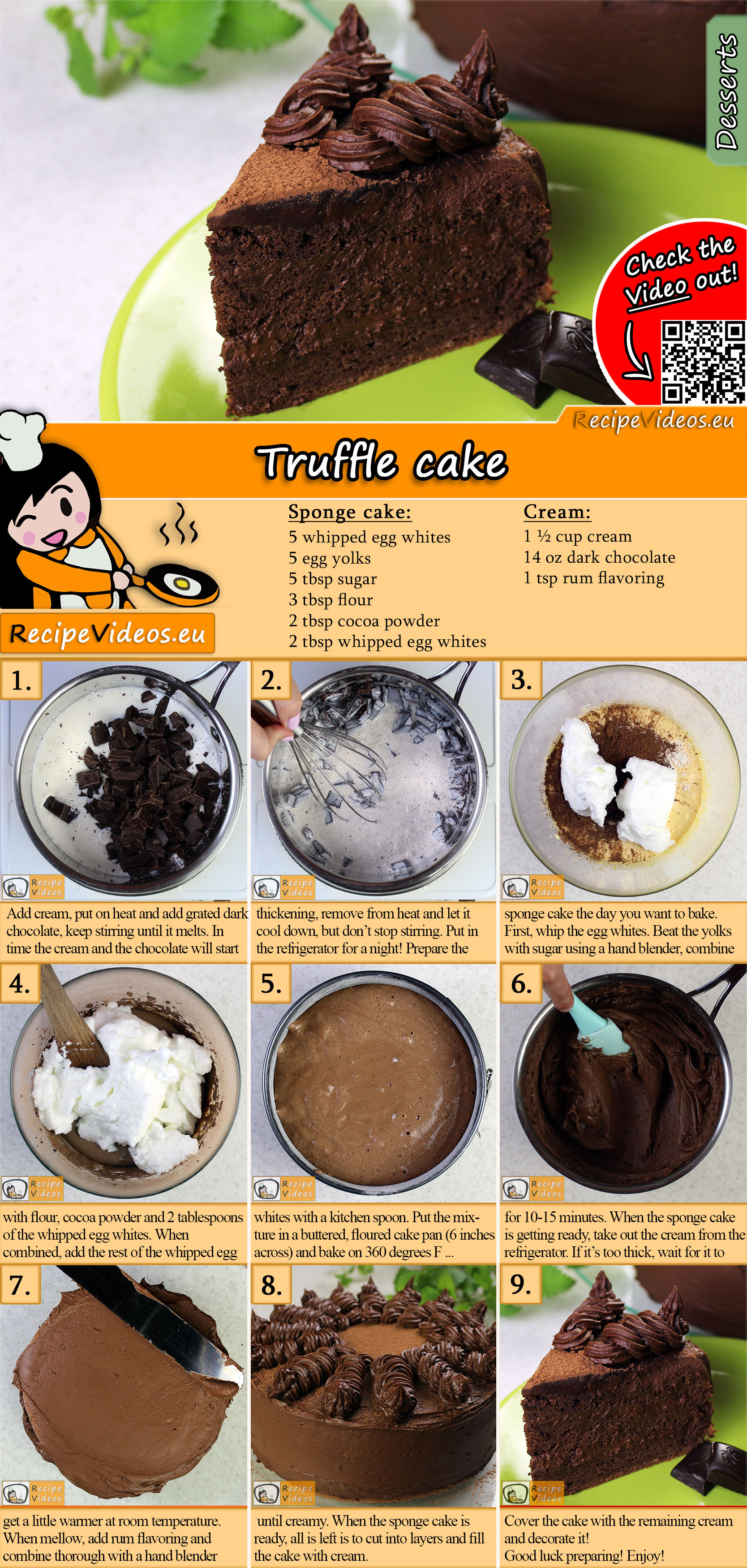 Truffle cake recipe with video
