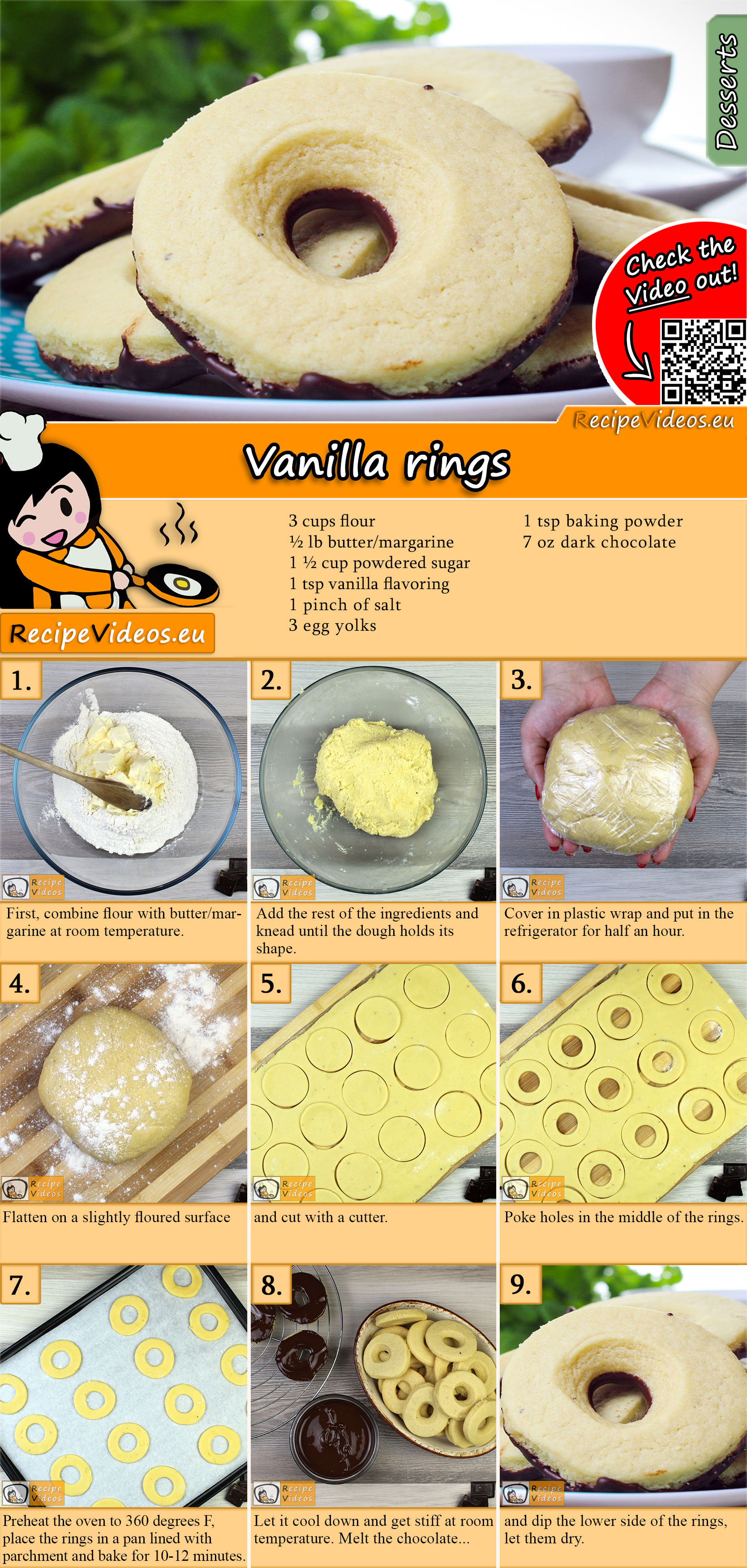 Vanilla rings recipe with video