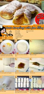 Yeast dumplings with jam filling recipe with video