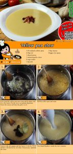 Yellow pea stew recipe with video