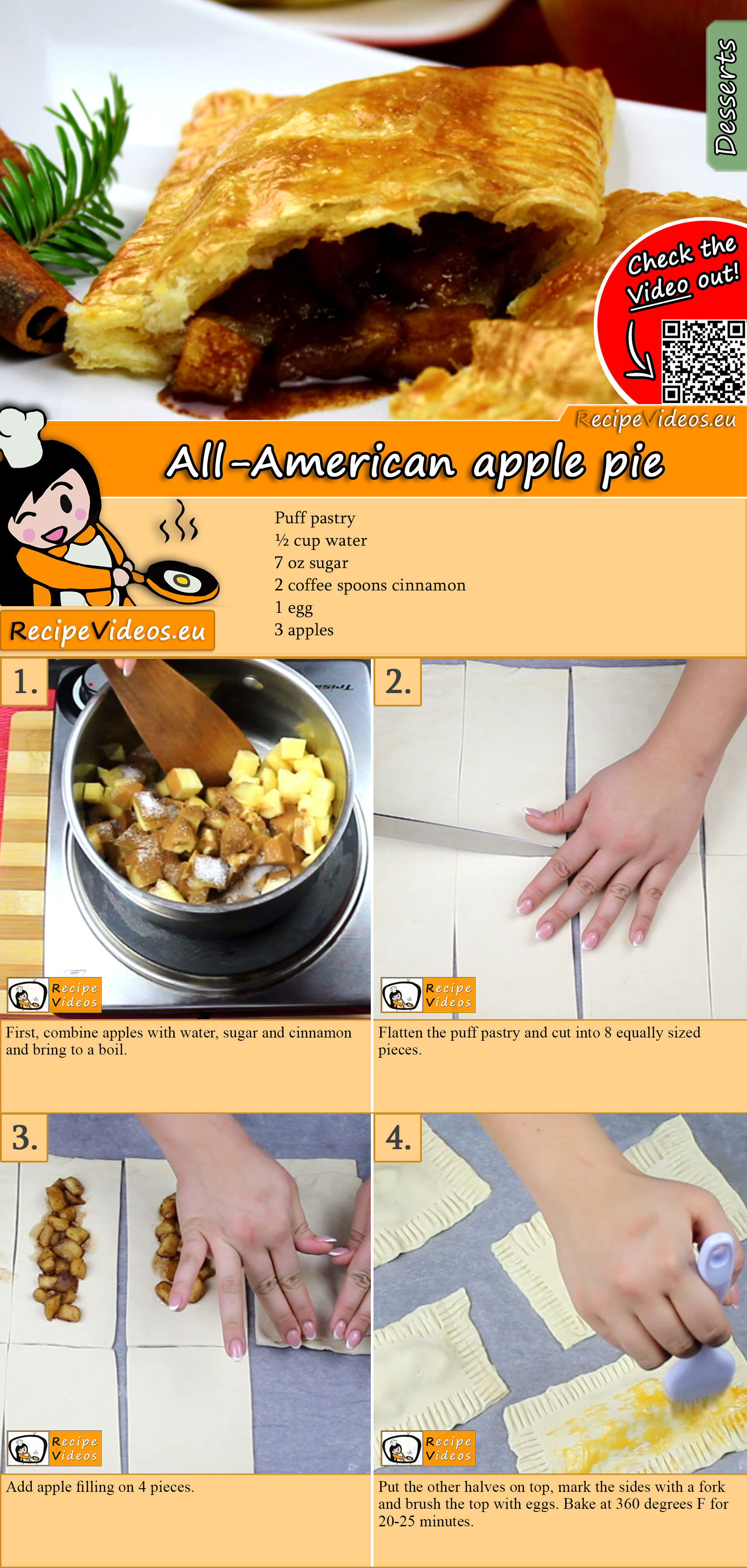All-American apple pie recipe with video