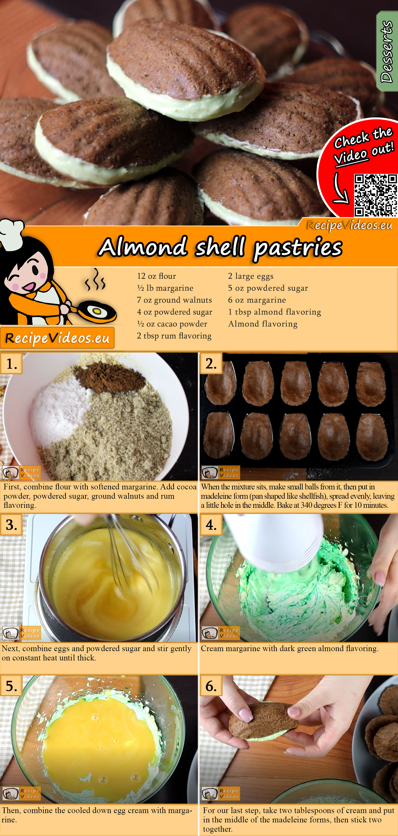 Almond shell pastries recipe with video