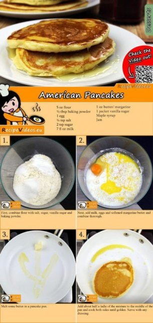 American Pancakes recipe with video