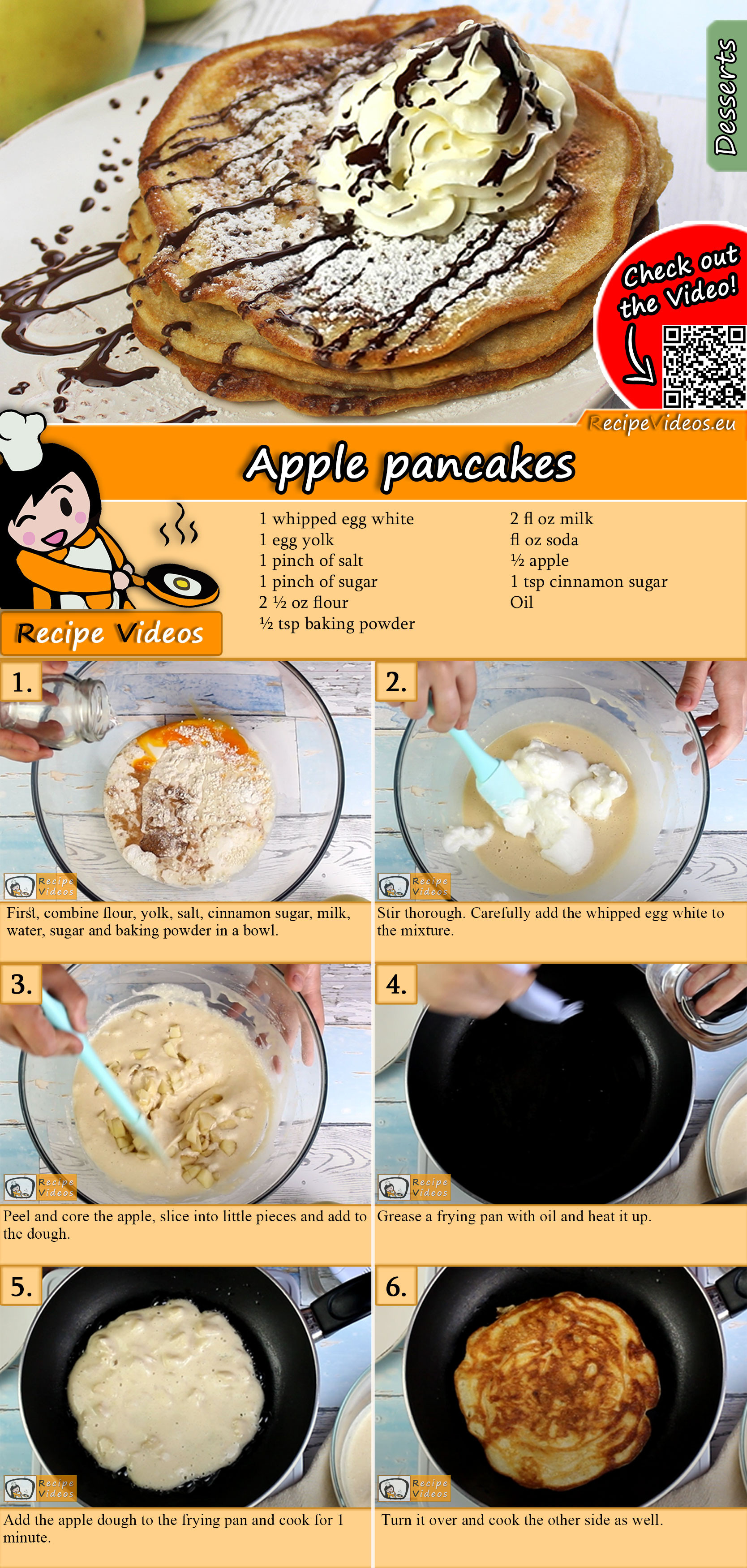 Apple pancakes recipe with video