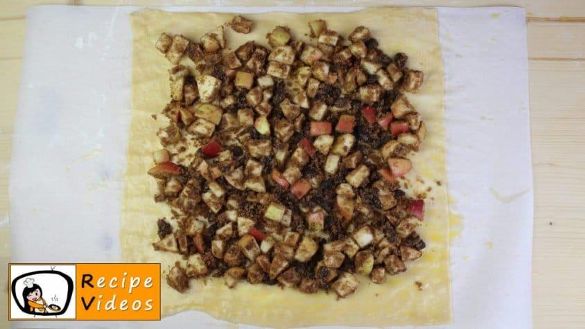 Apple strudel recipe, prepping Apple strudel step 7