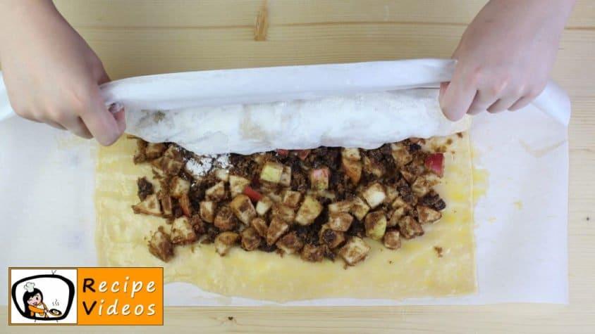 Apple strudel recipe, prepping Apple strudel step 8