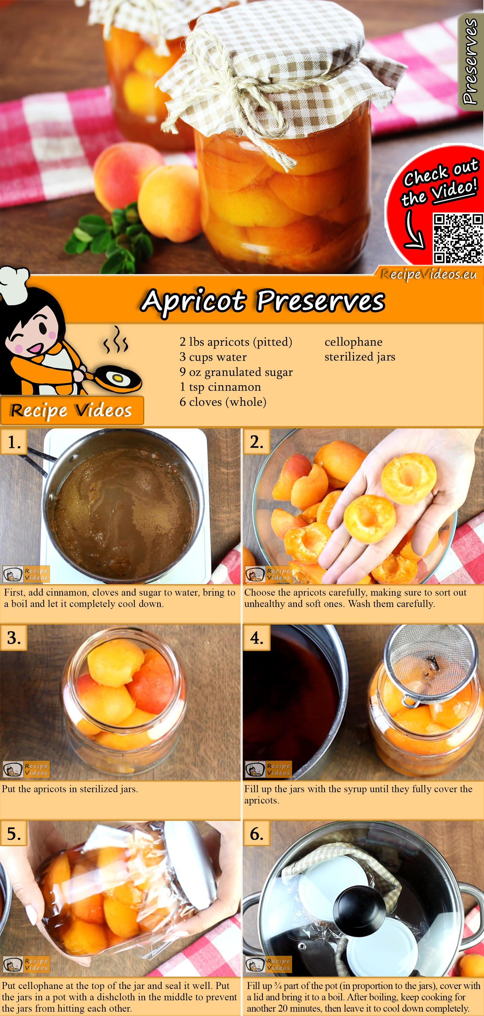 Apricot preserves recipe with video