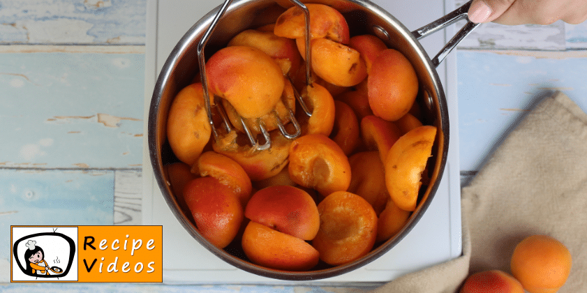 Apricot Jam recipe, prepping Apricot Jam step 2