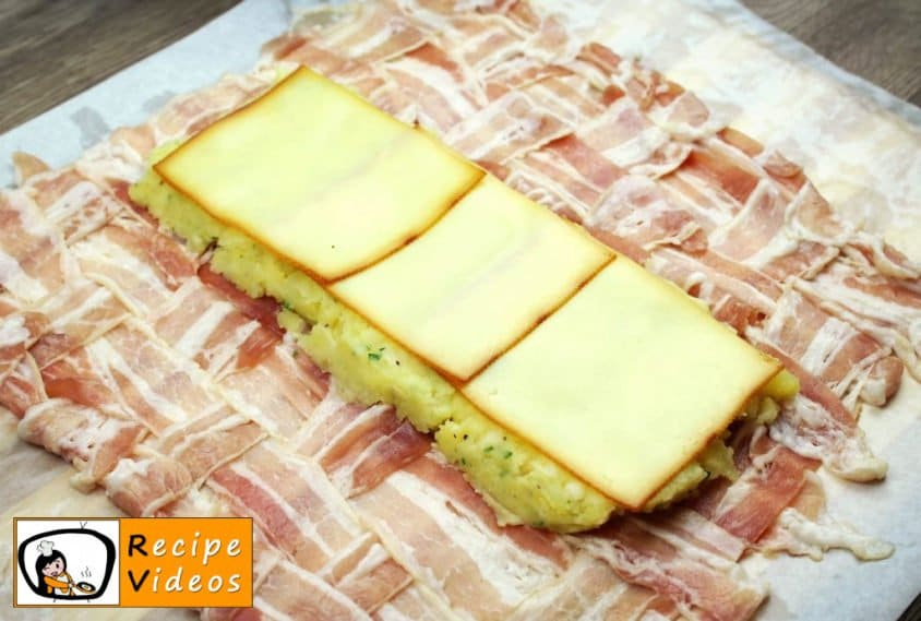Bacon-wrapped Stuffed Potato Roll recipe, prepping Bacon-wrapped Stuffed Potato Roll step 9