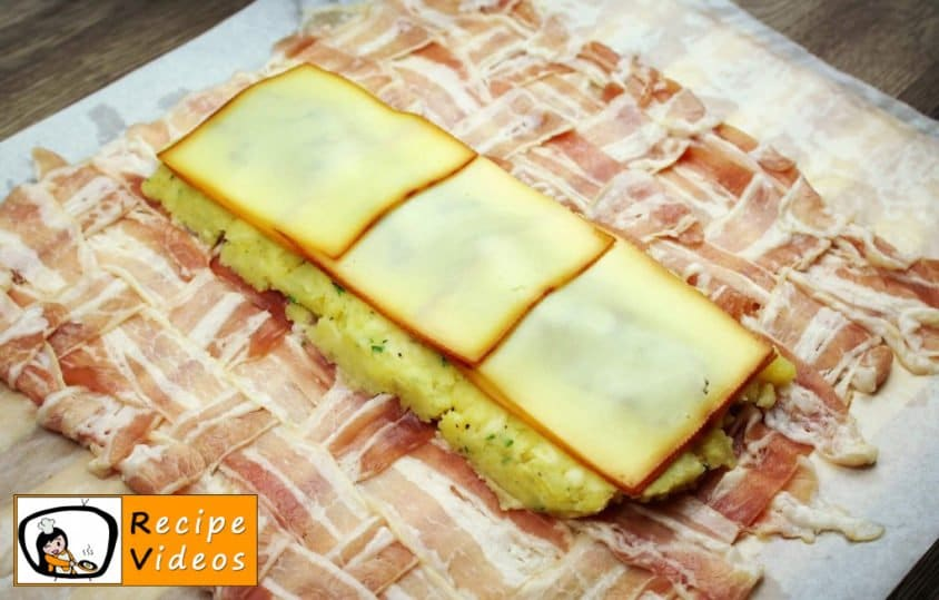 Bacon-wrapped Stuffed Potato Roll recipe, prepping Bacon-wrapped Stuffed Potato Roll step 12