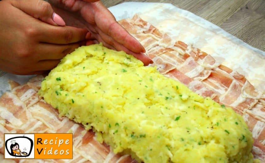 Bacon-wrapped Stuffed Potato Roll recipe, prepping Bacon-wrapped Stuffed Potato Roll step 15