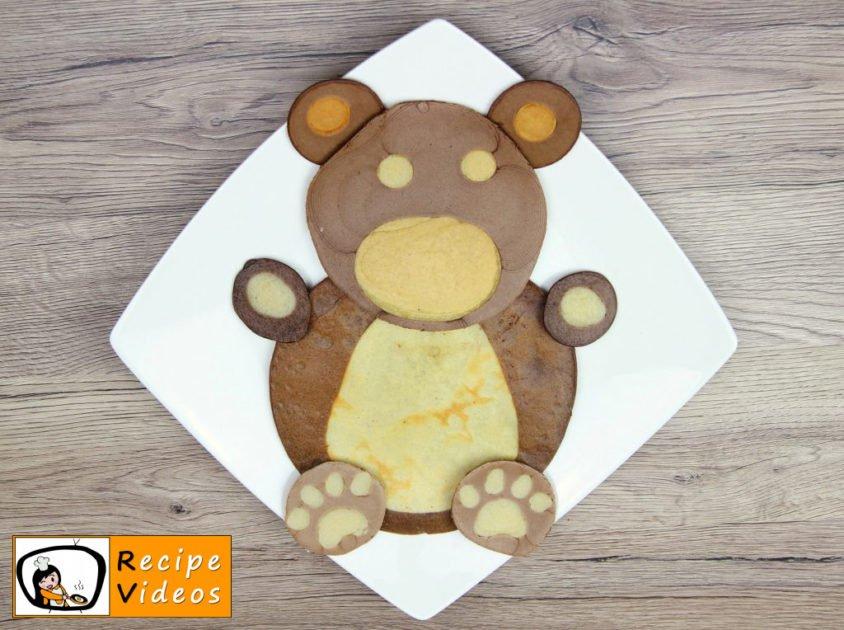 Bear-shaped Pancakes recipe, how to make Bear-shaped Pancakes step 6