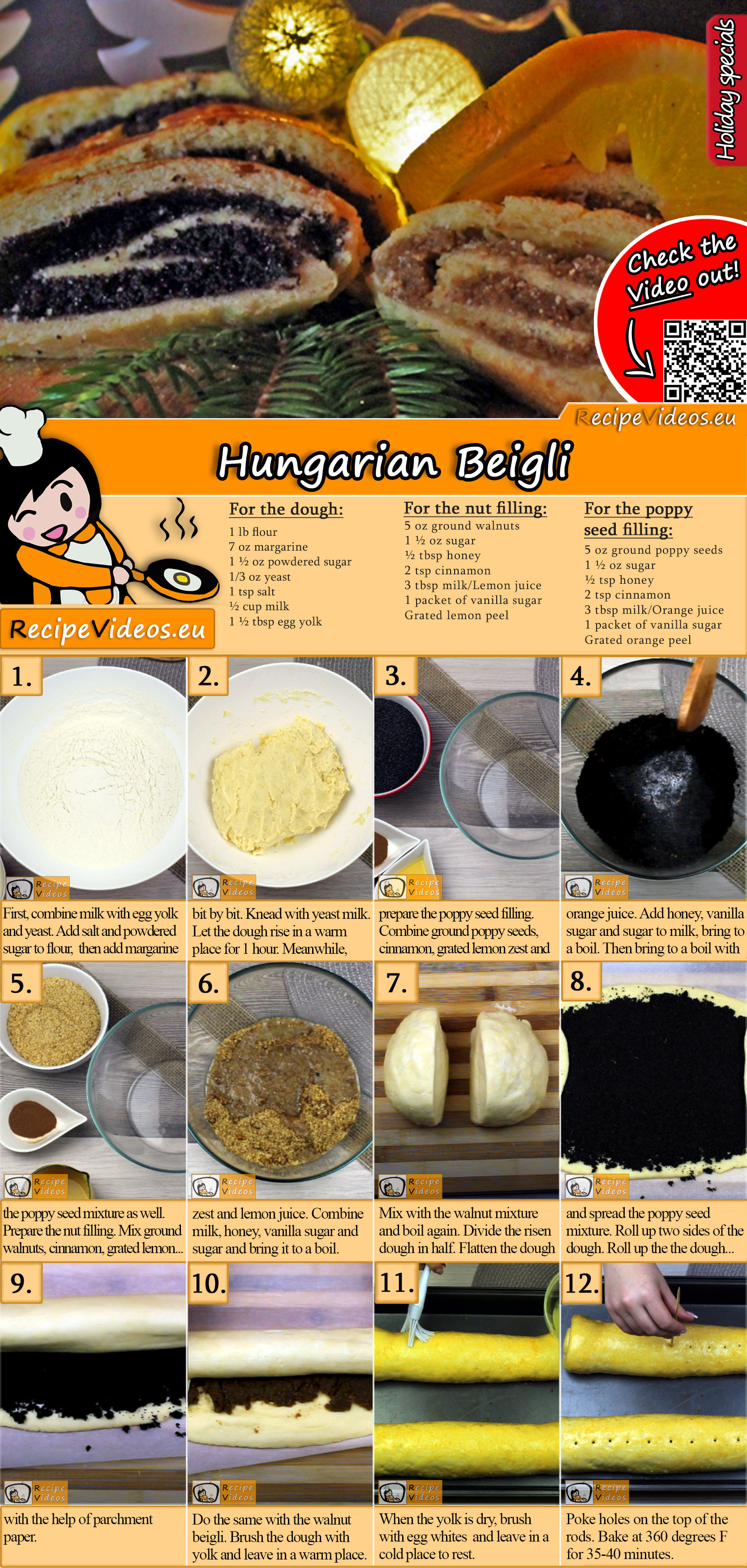 Beigli recipe with video