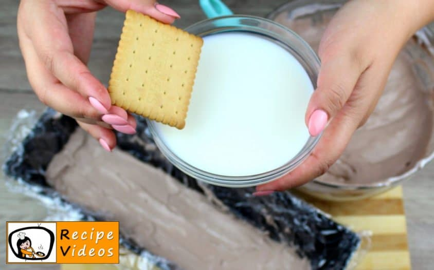 Biscuit Ice Cream Cake recipe, prepping Biscuit Ice Cream Cake step 6