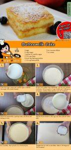 Buttermilk cake recipe with video