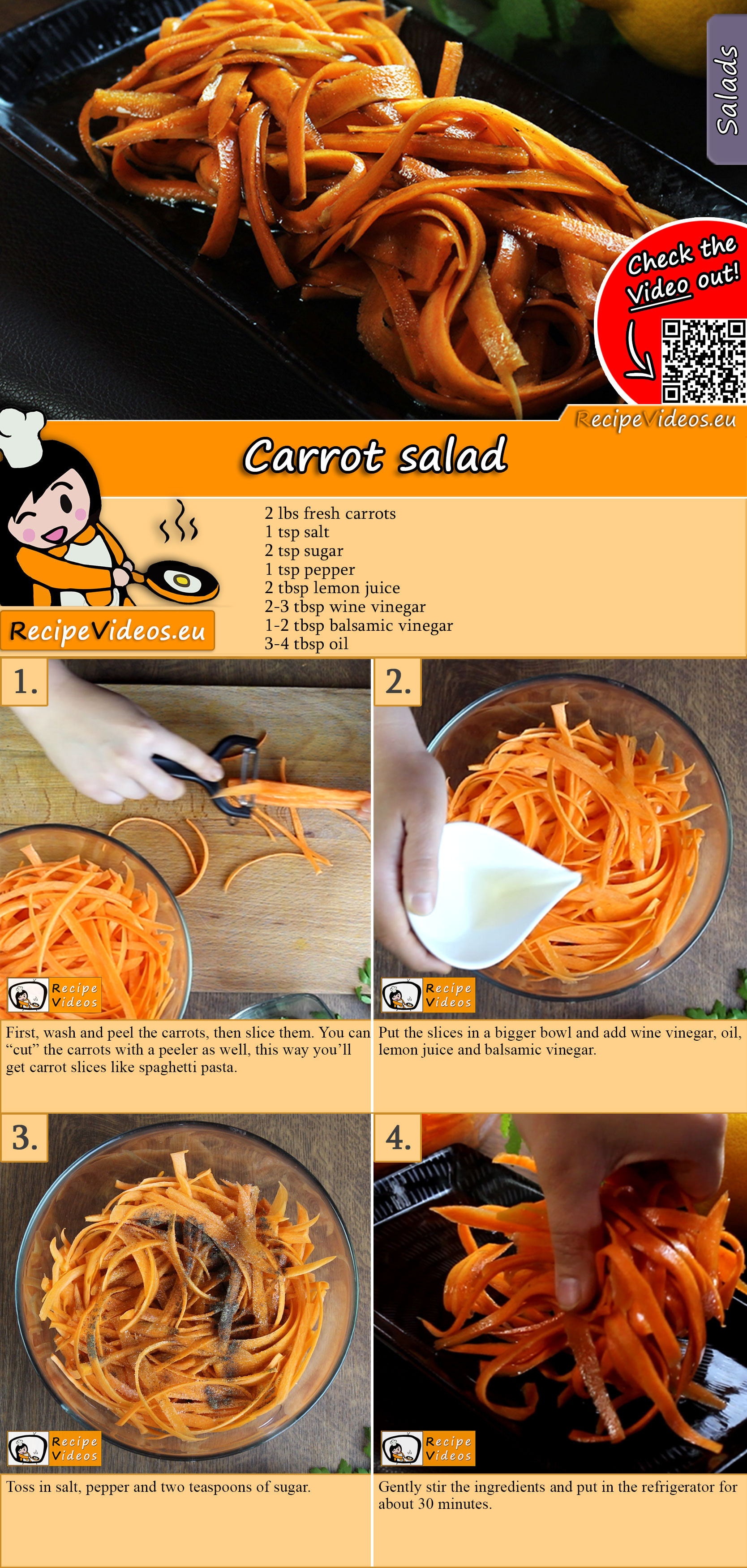Carrot salad recipe with video