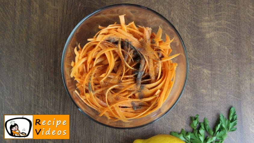 Carrot salad recipe, prepping Carrot salad step 2