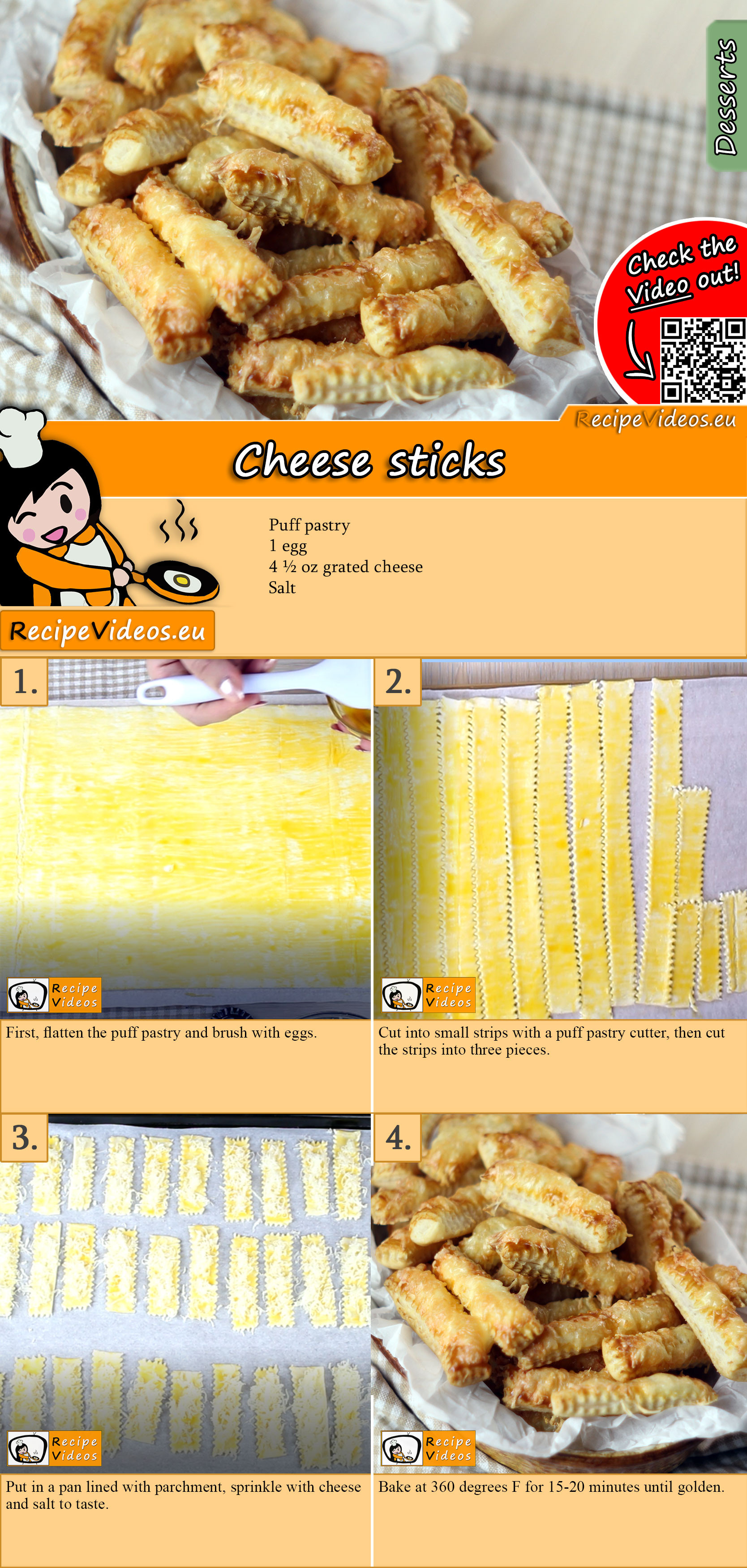 Cheese sticks recipe with video