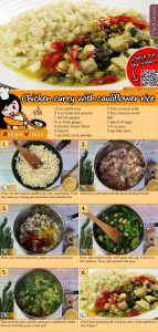 Chicken curry with cauliflower rice recipe with video