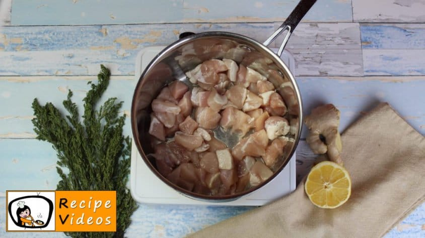 Chicken curry with cauliflower rice recipe, prepping Chicken curry with cauliflower rice step 2