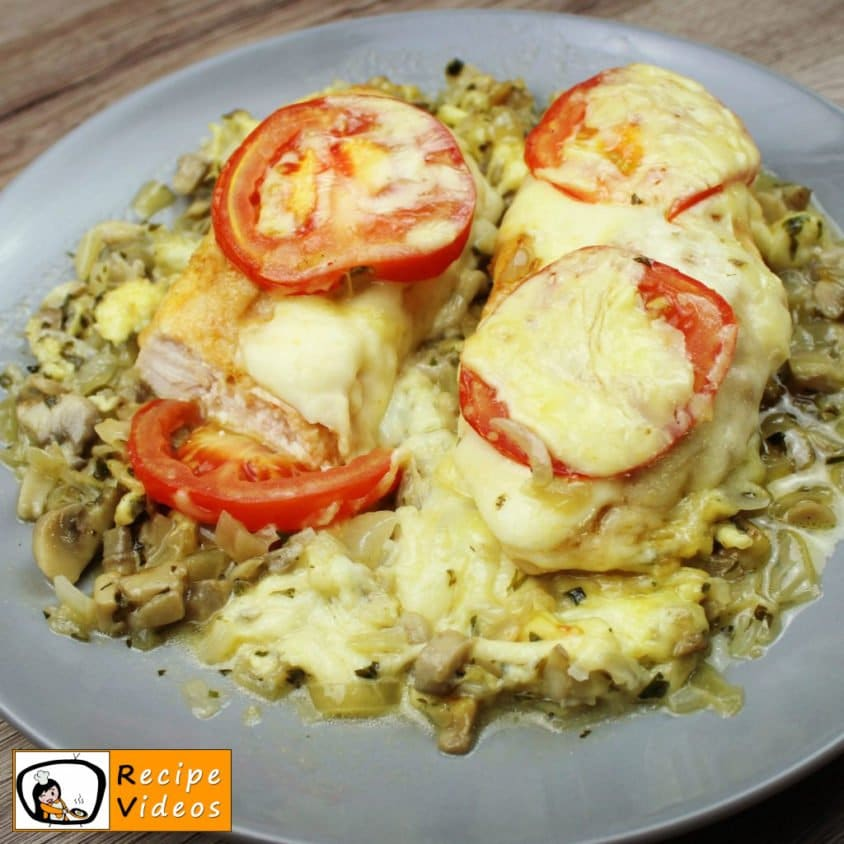 Chicken with Mushrooms and Cheese