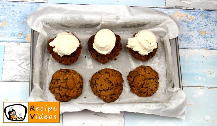 Chocolate Oatmeal Cookies with Frozen Yogurt recipe, how to make Chocolate Oatmeal Cookies with Frozen Yogurt step 7