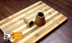 Chocolate filled ice cream cones recipe, how to make Chocolate filled ice cream cones step 1
