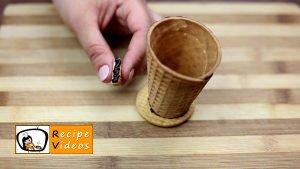 Chocolate filled ice cream cones recipe, how to make Chocolate filled ice cream cones step 3