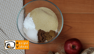 Cinnamon apple pie muffins recipe, prepping Cinnamon apple pie muffins step 1