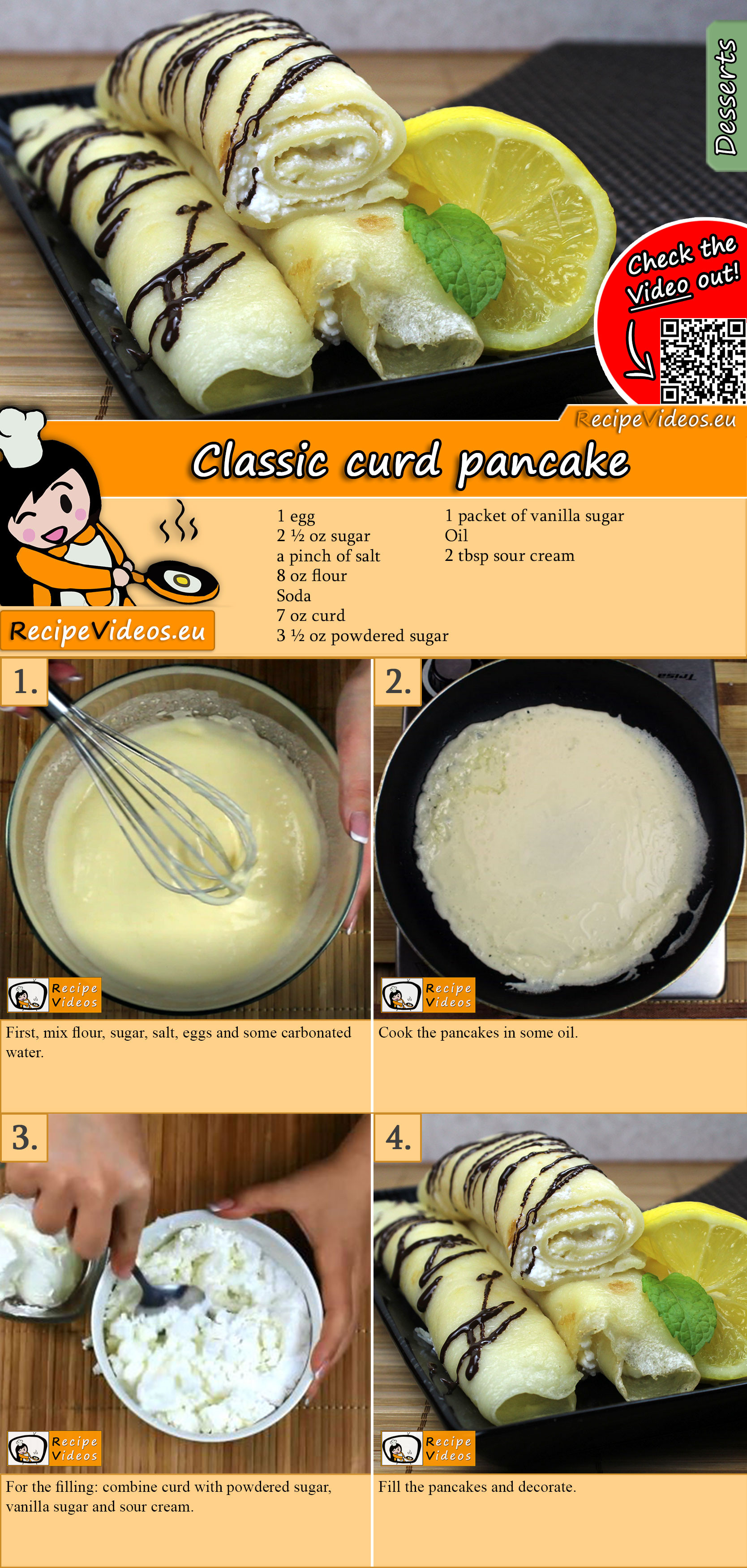 Classic curd pancake recipe with video